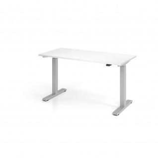 Büro Schreibtisch Stehtisch höhenverstellbar 140x67 cm Modell XMST614 mit Tastschalter