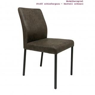Edler Design Stuhl Esszimmerstuhl Barile 1 Gestell schwarz