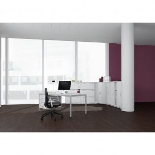 Gera Schreibtisch Bürotisch 4 Fuß Eco mit Hängecontainer abschließbar 1200x800x720mm