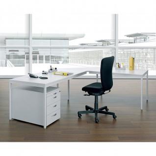 Gera Verkettungsplatte für Schreibtisch Bürotisch 4 Fuß Eco Dreieck 90° 800x800x1132mm
