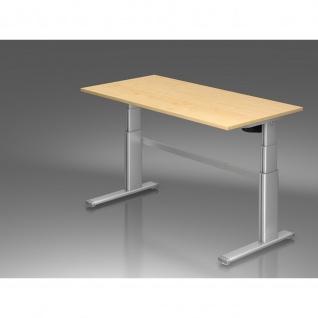 Büro Schreibtisch Stehtisch höhenverstellbar 160x80 cm Modell Xanda III