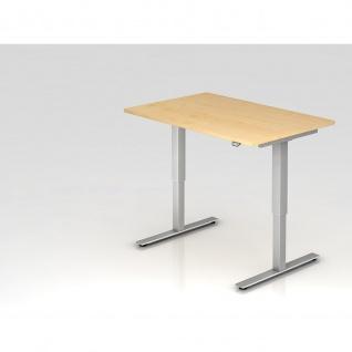 Büro Schreibtisch Stehtisch höhenverstellbar 120x80 cm Modell XMST12 mit Tast-Schalter
