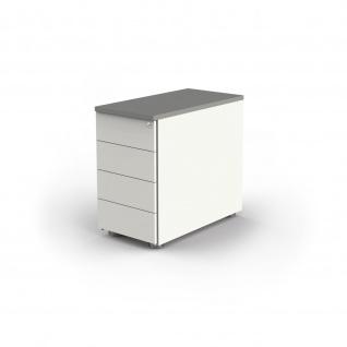 Büro Anstell-Container MOVE3 / MOVE2 (B)43x(T)80x(H)72-76 höheneinstellbar verschiedene Dekore