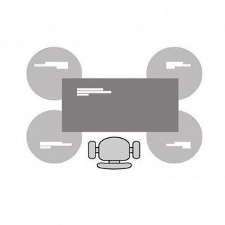 Anbautisch 3/4 Kreis E10 Toro D:100 cm Quadratrohrgestell Höhe 740 mm Alu, weiß, dkl.grau schwarz