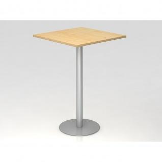 Bistro Tisch Stehtisch Besprechungstisch 08 silber quadratische Tischplatte 80x80cm