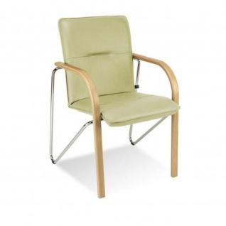 Besucherstuhl Konferenzstuhl Objektstuhl Salsa CR 4-Bein-Stuhl verchromt