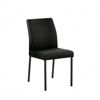 Edler Design Stuhl Esszimmerstuhl Barile 1 Leder Gestell schwarz