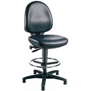 Topstar Arbeitsstuhl TEC 50 Counter Kunstleder schwarz mit Fussring