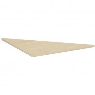 Gera Verkettungsplatte Dreieck 90° für 4 Fuß Flex 800x800mm ahorn buche lichtgrau weiß