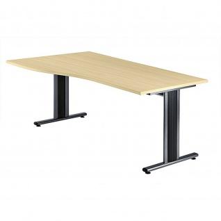 Büro Schreibtisch 180x80/100 cm Freiform Modell TS18