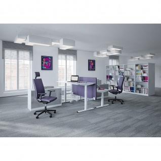 Sitz-Stehtisch Schreibtisch Bürotisch eModel T:700 mm elektr. Höhenverstellung Memoryfunktion