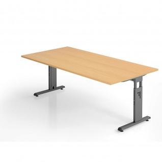 Büro Schreibtisch 200x100 cm Modell OS2E höheneinstellbar