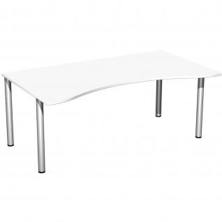 Gera Ergonomieform Schreibtisch Bürotisch 4 Fuß Flex 1800x800/1000x720mm