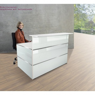 Kerkmann Design-Theke Grundtheke Atlantis Glas (B)1350x(T)920x(H)1080mm
