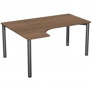 Gera PC-Schreibtisch Bürotisch 4 Fuß Flex links 1600x800/1200mm verschied.Dekore