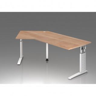 Büro Schreibtisch 210x113 cm Winkelform Modell US21 mech. Höheneinstellung