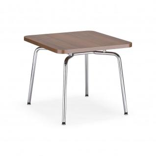 Bistrotisch Beistelltisch Objekttisch HELLO! Table MA verchromt 55x55 cm H:46 cm verschiendene Farben