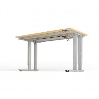 Schwerlast-Tisch160 x80 cm mit Tast-Schalter Höhenverstellbar