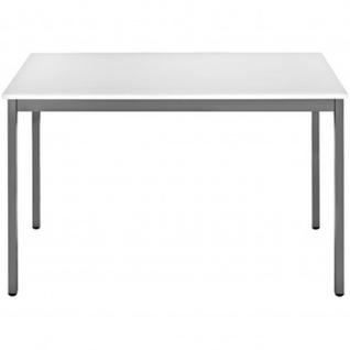 Konferenztisch Universaltisch 148RGG, 1.400 x 800 mm Gestell grau