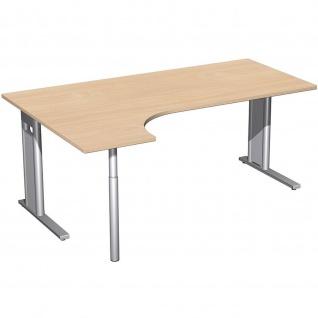 Gera PC-Schreibtisch Bürotisch C Fuß Pro links 1800 x800/1200x720mm