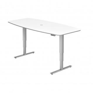 Büro Schreibtisch Stehtisch Konferenztisch höhenverstellbar 220x103/83 cm Modell XDSM82 mit Memory-Schalter