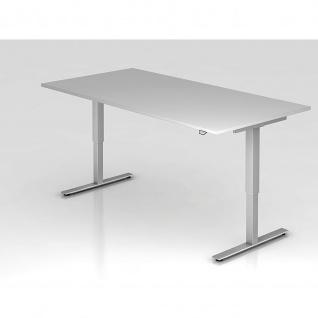 Büro Schreibtisch Stehtisch höhenverstellbar 200x100 cm Modell XMST2E mit Tast-Schalter