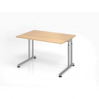 Büro Schreibtisch 120x80 cm Modell ZS12 mechanische Höheneinstellung