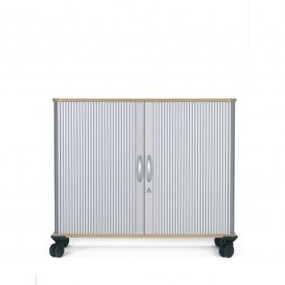 Gera Querrollladenschrank Rollladenschrank Aktenschrank 2 OH inkl.Rollen B:1000mm