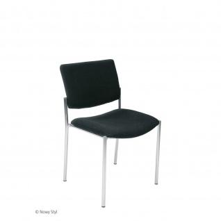 Konferenzstuhl Besucherstuhl Objektstuhl Zen LB 4-Bein Gestell verchromt C-Stoff
