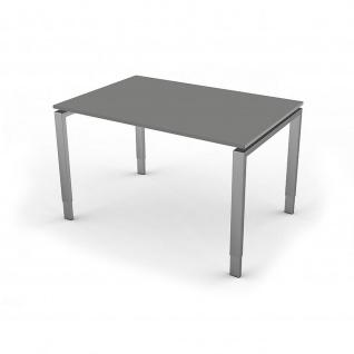 Kerkmann Schreibtisch Form 5, 120x80x68-82 cm Vierfuß-Gestell höhenverstellbar