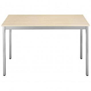 Konferenztisch Universaltisch 148REA, 1.400 x 800 mm Gestell Alusilber