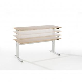 Büro Schreibtisch Stehtisch höhenverstellbar 160x80 cm Modell Xanda I