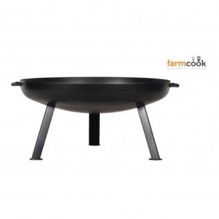 Outdoor Grill Feuerschale Pan 44 schwarz lackiert verschiedene Größen