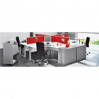 Schreibtisch Bürotisch E10 Toro Tiefe 80x60 cm Freiform Rundrohrgestell verchromt
