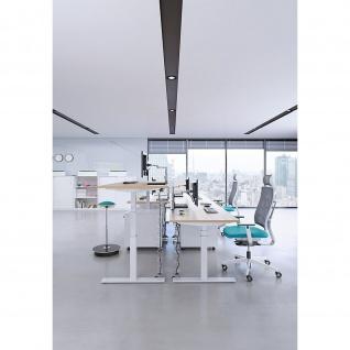 Sitz-Stehtisch Schreibtisch Bürotisch eModel T:800 mm elektr. Höhenverstellung Memoryfunktion