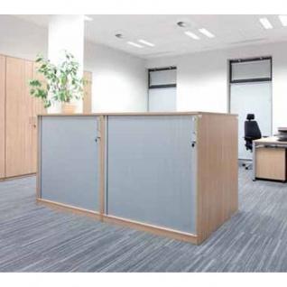 Querrolladenschrank Büroschrank E10 Toro B:1200mmT:445mm Sichtrückwand in Korpusfarbe