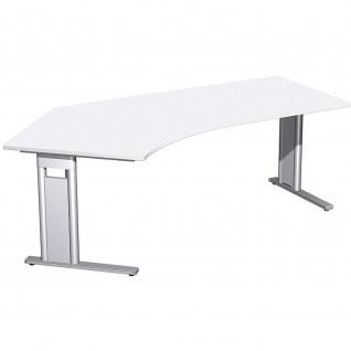 Gera Winkel Schreibtisch Bürotisch C Fuß Pro 135° links 2166x1130x720mm