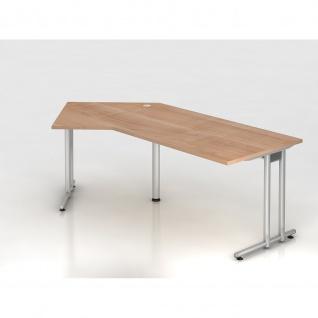 Büro Schreibtisch 210x113 cm Winkelform Modell NS21