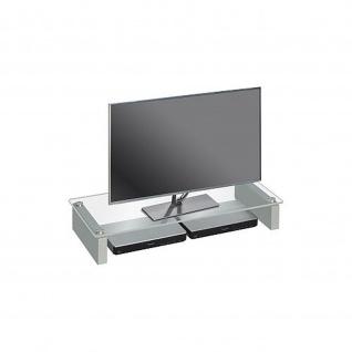 TV Board mit Glas, Sicherheitsglas, 820 x 122 x 350 mm