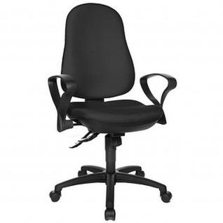 Bürodrehstuhl Support SY Stoff schwarz