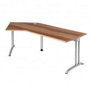 Büro Schreibtisch 210x113 cm Winkelform Modell BS21