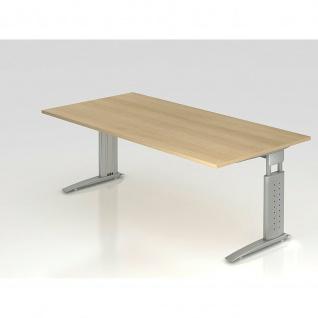 Büro Schreibtisch 200x100 cm Modell US2E mechanische Höheneinstellung