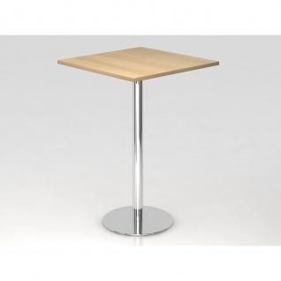 Bistro Tisch Stehtisch Besprechungstisch 08 chrom quadratische Tischplatte 80x80cm