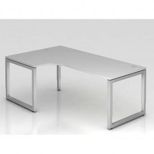 Büro Schreibtisch 200x120 cm Modell RS82 mechanische Höheneinstellung
