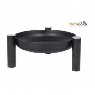 Outdoor Grill Feuerschale Pan 38 schwarz lackiert verschiedenen Größen