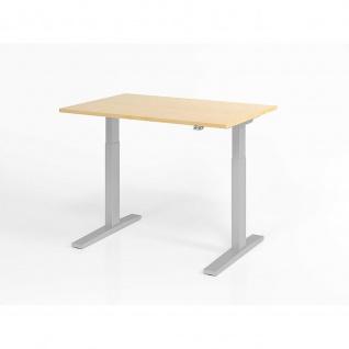 Büro Schreibtisch Stehtisch höhenverstellbar 120x80 cm Modell XMKA12 mit Tast-Schalter