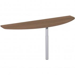 Gera Anbautisch mit Stützfuß Anbringung Frontseite höhenverstellbar für Schreibtisch Bürotisch 4 Fuß Flex 1600x500mm