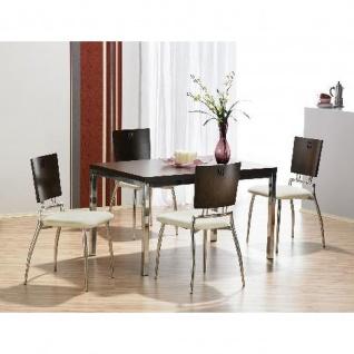Mayer Tisch Esstisch XCite Dining 3059, Gestell chrom, Dekor Tischplatte