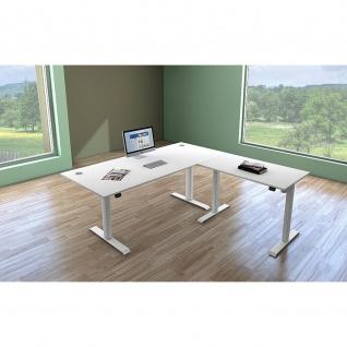 Kerkmann Schreibtisch Move 1 Sitz-/Stehtisch 180x80x72-120cm inkl.Anbautisch 100x60cm