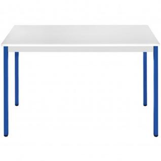Konferenztisch Universaltisch 168RGBL, 1.600 x 800 mm Gestell blau